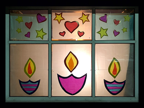 Candles window display